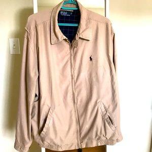 Polo Ralph Lauren Tan lightweight Zip Up Jacket